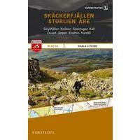 Norstedts Zweden Outdoormap 10 Skäckerfjallen - Storlien - Are