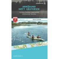 Norstedts Zweden Outdoormap 21 Arkösund - Gryt - Västervik