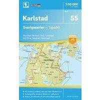 Norstedts Zweden Topografische Wandelkaart 55 Karlstad