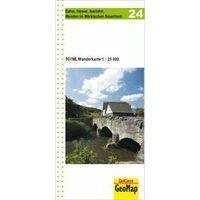 NRW Wanderkarte Wandelkaart 24 Balve Hemer Iserlohn