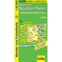 NRW Wanderkarte Wandelfietskaart Mittlerer Niederrhein 1:50.000