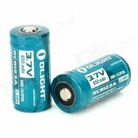 Olight Lithium-Ion Batterij RCR123A 3.7V 650mAh