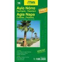 Orama Agia Napa Cyprus 1:100.000 Fietskaart