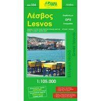 Orama Wegenkaart Lesbos 334 1:105.000