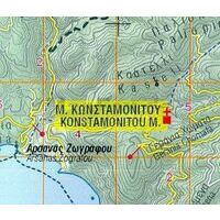 Orama Wandelkaart Mount Athos 1:60.000