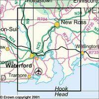 Ordnance Survey Ierland Topografische Kaart D76 Carlow Kilkenny Wexford