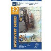 Ordnance Survey Ierland Topografische Kaart D32 Mayo Roscommon Sligo