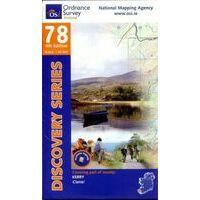 Ordnance Survey Ierland Topografische Kaart D78 Kerry