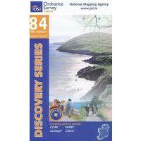 Ordnance Survey Ierland Topografische Kaart D84 Cork Kerry