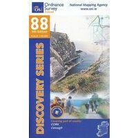 Ordnance Survey Ierland Topografische Kaart D88 Cork