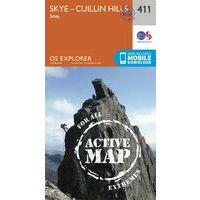 Ordnance Survey Ierland Wandelkaart Active Explorer 411 Skye - Cuillin