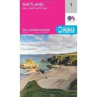 Ordnance Survey Wandelkaart 001 Shetland