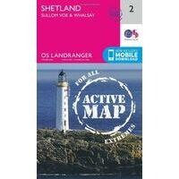 Ordnance Survey Wandelkaart 002 Shetland