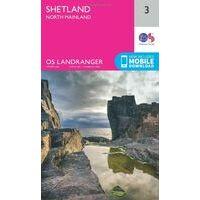 Ordnance Survey Wandelkaart 003 Shetland