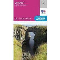 Ordnance Survey Wandelkaart 005 Orkney