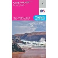Ordnance Survey Wandelkaart 009 Cape Wrath