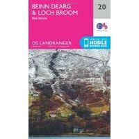 Ordnance Survey Wandelkaart 020 Beinn Dearg & Loch Broom