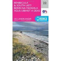 Ordnance Survey Wandelkaart 022 Benbecula & South Uist