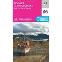 Ordnance Survey Wandelkaart 024 Raasay & Applecross