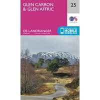 Ordnance Survey Wandelkaart 025 Glen Carron & Glen Affric