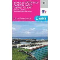 Ordnance Survey Wandelkaart 031 Barra & South Uist