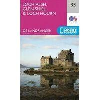 Ordnance Survey Wandelkaart 033 Loch Alsh - Glen Shiel