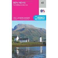 Ordnance Survey Wandelkaart 041 Ben Nevis - Fort WIlliam