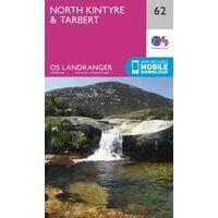 Ordnance Survey Wandelkaart 062 North Kintyre & Tarbert
