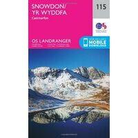 Ordnance Survey Wandelkaart 115 Snowdon / Yr Wyddfa