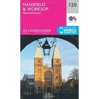 Ordnance Survey Wandelkaart 120 Mansfield & Worksop