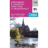 Ordnance Survey Wandelkaart 126 Shrewsbury - Oswestry