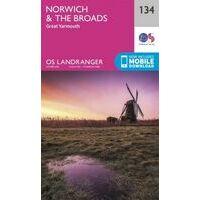 Ordnance Survey Wandelkaart 134 Norwich & The Broads