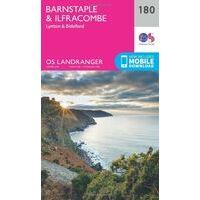 Ordnance Survey Wandelkaart 180 Barnstaple & Ilfracombe