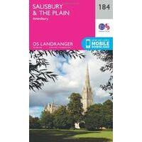 Ordnance Survey Wandelkaart 184 Salisbury & The Plain