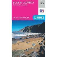 Ordnance Survey Wandelkaart 190 Bude - Clovelly