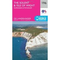 Ordnance Survey Wandelkaart 196 The Solent & Isle Of Wight