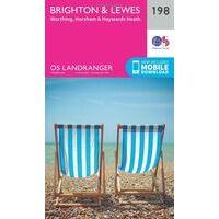 Ordnance Survey Wandelkaart 198 Brighton - Lewes