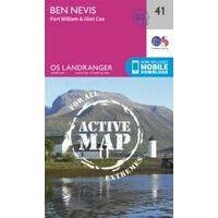 Ordnance Survey Wandelkaart 041 Active Ben Nevis