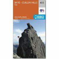Ordnance Survey Wandelkaart Explorer 411 Skye - Cuillin Hills