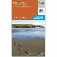 Ordnance Survey Wandelkaart Explorer OL466 Shetland Mainland South