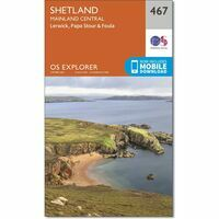 Ordnance Survey Wandelkaart Explorer OL467 Shetland Mainland Central