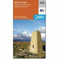 Ordnance Survey Wandelkaart Explorer OL468 Shetland Mainland North East