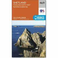 Ordnance Survey Wandelkaart Explorer OL469 Shetland Mainland North West