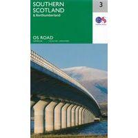 Ordnance Survey Wegenkaart 3 Schotland Zuid