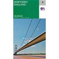 Ordnance Survey Wegenkaart 4 Engeland Noord
