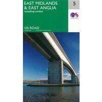 Ordnance Survey Wegenkaart 5 Midlands Oost, East Anglia
