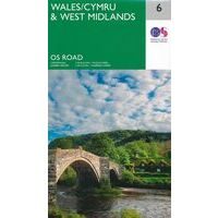 Ordnance Survey Wegenkaart 6 Wales - Midlands West
