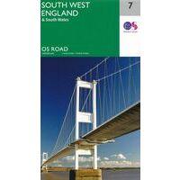 Ordnance Survey Wegenkaart 7 Engeland Zuidwest, Wales Zuid