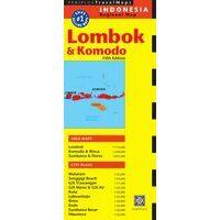 Periplus Maps Wegenkaart Lombok & Komodo