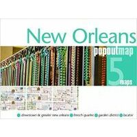 PopOut Map Stadsplattegrond New Orleans PopOut Map